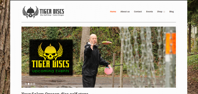 New Website for Tiger Disc Golf Shop